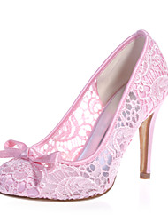 cheap -Women's Spring Summer Fall Lace Wedding Party & Evening Stiletto Heel Black Pink Ivory White