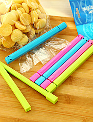 1pc Home Kitchen Colorful Food Plastic Bag Seal Sealing Clip Clamp Sealer (Random Color)