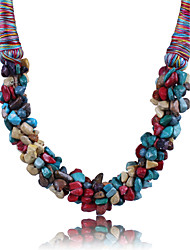 cheap -Women's Statement Jewelry Statement Necklace Synthetic Gemstones Alloy Statement Necklace , Party