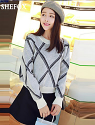 cheap -Women's Casual/Cute Stretchy Medium Long Sleeve Pullover (Knitwear) SF7B33