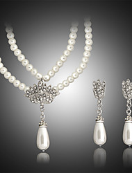 cheap -Women's Pearl Jewelry Set Earrings Necklace - White Jewelry Set For Wedding Party Birthday Engagement Gift Daily Casual