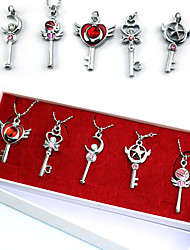 Jewelry Inspirirana Sailor Moon Sailor Moon Anime Cosplay Pribor Ogrlice Crvena / Plava Alloy Female