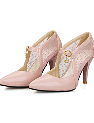 cheap -Women's Heels Spring Summer Fall Comfort Ankle Strap Tulle PU Office & Career Casual Party & Evening Stiletto Heel Buckle Split Joint