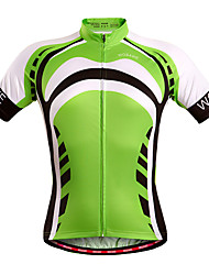 cheap -WOSAWE Cycling Jersey Unisex Short Sleeves Bike Jersey Top Quick Dry Windproof Moisture Permeability Breathable Polyester Spandex Stripe