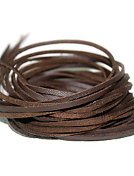 cheap -Beadia 10 Pcs DIY Accessories 3mm (100cm Length) Brown Flat Faux Suede Leather Cord Lace String