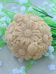 cheap -Flower Ball Dessert Decorator Soap Mold Fondant Cake Chocolate Silicone Mold, Decoration Tools Bakeware