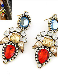 cheap -Women's Crystal Drop Earrings - Vintage, European, Fashion Red / Pink For