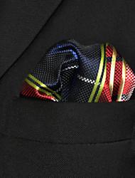 cheap -Men's Party Basic Rayon Necktie - Color Block Plaid Basic