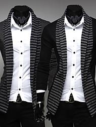 billige -Afslappede skjorter ( Akryl / Organisk Bomuld / Rayon ) MEN - Casual Trøje Krave - Lang Ærmet