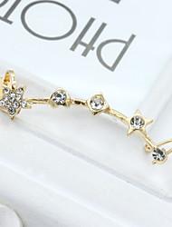 billige -Dame Krystal Stangøreringe - 18K Guldbelagt, Rhinsten, Guldbelagt Europæisk, Mode Guld / Sølv Til / Simuleret diamant / Østrigsk krystal
