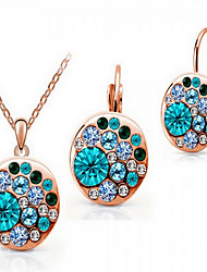 cheap -Women's Cubic Zirconia / Rose Gold Plated Cute Jewelry Set Earrings / Necklace - Party / Work / Fashion Rose Gold Jewelry Set For Party /