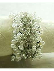 お買い得  -真珠の装飾ナプキンリング、アクリル、1.77inch、12のセット