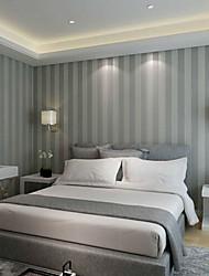 cheap -New Rainbown™ Contemporary Wallpaper Stripe Grey Strips Striped Wallpaper Wall Covering Non-woven Fabric Wall Art