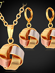 cheap -Women's Rose Gold Gold Plated Rose Gold Plated Jewelry Set Earrings Necklace - Vintage Cute Party Work Casual For