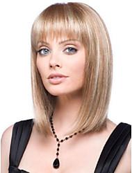 billige -Syntetiske parykker Lige Syntetisk hår Paryk Dame Kort Lågløs