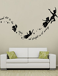 cheap -Wall Stickers Wall Decals Style Secord Star to The Right English Words & Quotes PVC Wall Stickers
