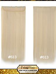 baratos -resistência loira alta temperatura de 24 polegadas lixívia (# 613) longa reta 5 extensão peruca clipe de 16 cores disponíveis