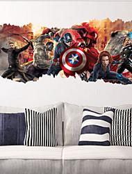 abordables -zooyoo ®1457 super-héros caractère giftavengers décalcomanie de mur de film autocollants populaires