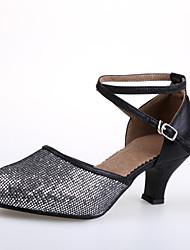 billige -Damer Moderne Hæle Indendørs Personligt tilpassede hæle Guld Sort og Guld Sort og Sølv Rød Blå Personligt tilpasset hæl Kan tilpasses