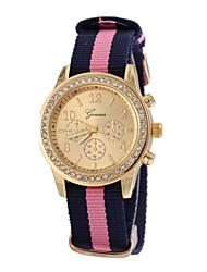 baratos -Mulheres Relógio de Pulso Venda imperdível Tecido Banda Brilhante / Fashion Cores Múltiplas