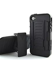 economico -Custodia Per iPhone 4/4S Integrale Resistente PC per iPhone 4s/4