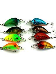 """8 pc Manovelle Esca Manovelle Colori assortiti g/Oncia mm/1-3/4"""" pollice,Plastica dura Pesca di mare Pesca di acqua dolce Pesca persico"""
