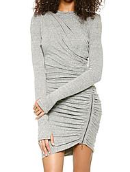 billige -Dame Chic & Moderne Bodycon Kjole Moderne Stil Ren Farve
