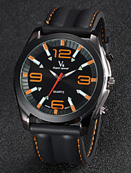 cheap -V6 Men's Wrist Watch Silicone Band Black / Two Years / Mitsubishi LR626