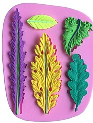 cheap -Leaves Leaf Shaped Fondant Cake Chocolate Silicone Molds,Decoration Tools Bakeware