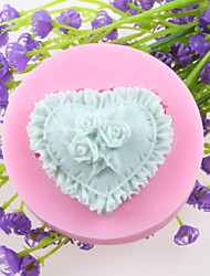 Heart-shaped Flowers Fondant Cake Chocolate Silicone Molds,Decoration Tools Bakeware