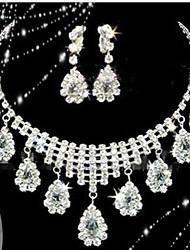 abordables -Collar / Pendiente (Baño en Plata / Aleación / Piedra Preciosa y Cristal / Zirconia Cúbica)- Bonito / Fiesta para Mujer