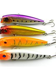 """4 pçs Popper de Pesca Iscas Popper de Pesca Branco Amarelo Roxo Dourado Cores Sortidas g/Onça,95mm mm/3.8"""" polegada,Plástico DuroPesca de"""