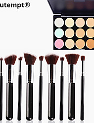 cheap -Concealer Cream Concealer / Contour 1 pcs Makeup Eye Lip Face Dry Wet Matte Whitening Fast Dry Coverage 15 Colors Cosmetic Grooming Supplies
