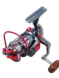 cheap -Fishing Reel Spinning Reel 5.2:1 Gear Ratio+11 Ball Bearings Hand Orientation Exchangable Bait Casting Ice Fishing Spinning Freshwater