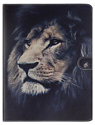 cheap -Lion Pattern PU Leather Full Body Case With Stand and Card Slot for iPad 2/3/4