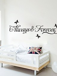"""cheap -Lovely """"Always and Forever"""" Printing Wall Stickers"""