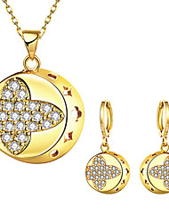 May Polly Europe and the United States fashion gold necklace earrings set