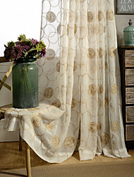 Country Curtains One Panel Ivory Fl Embroidered Sheer Curtain Drape