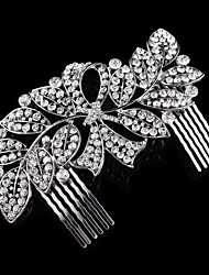cheap -Rhinestone Hair Combs 1 Wedding Special Occasion Headpiece