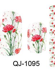 Blomst/Smuk - Finger - 3D Negle Stickers - 14.5*7.5*0.1