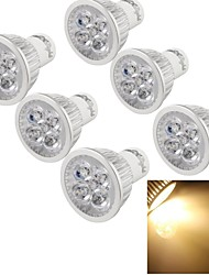 cheap -4W GU10 LED Spotlight MR16 4 High Power LED 300-350 lm Warm White 3000 K Decorative AC 220-240 V