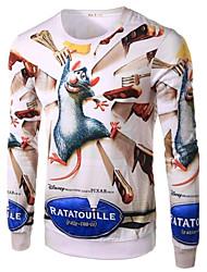 Tee-Shirt Pour des hommes A Motifs Décontracté Manches longues Coton Beige