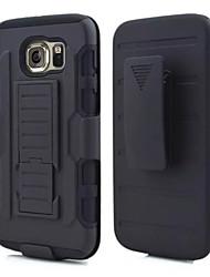 economico -Custodia Per Samsung Galaxy Samsung Galaxy Custodia Resistente agli urti / Con supporto Per retro Armatura PC per S6 edge / S6 / S5