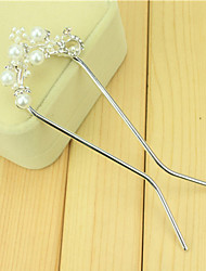 cheap -South Korean Hair Combs The Bride Ucomb Hair Clip Size Pearl Double Needle Twist