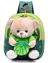 Unisex Bags Velvet Backpack School Bag for Outdoor All Seasons Fuchsia Green