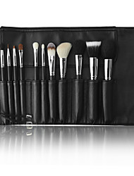 MSQ® 11pcs Makeup Brushes set Goat/Wool Hair Full Coverage Black Powder/Foundation/Concealer/Blush brush Shadow/liner/Lip/Browh Brush Makeup Kit
