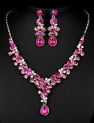cheap -Women's Cubic Zirconia / Rhinestone Jewelry Set - Others Fuchsia