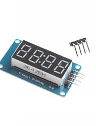 pour Arduino 4 chiffres a conduit module d'affichage a conduit le point réglable blocs d'ajustement de luminosité avec horloge