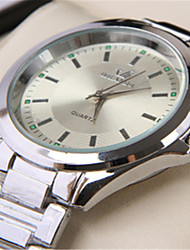 Men's Wrist watch Quartz Alloy Band Silver