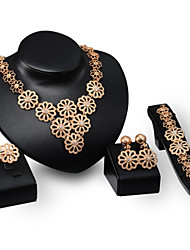 cheap -Women's Jewelry Set Rings / 1 Necklace / 1 Pair of Earrings - Multi Layer / Punk Gold Jewelry Set For Wedding / Party / Daily